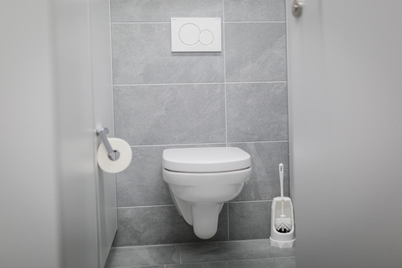 Sanitäre Anlagen, WC, Toiletten, Camping an der Ablach, Messkirch, sauber, modern