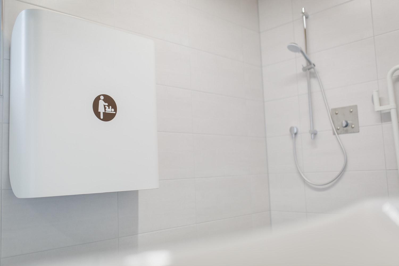 Sanitäre Anlagen, WC, Toiletten, Camping an der Ablach, Messkirch, Dusche, behindertengerecht